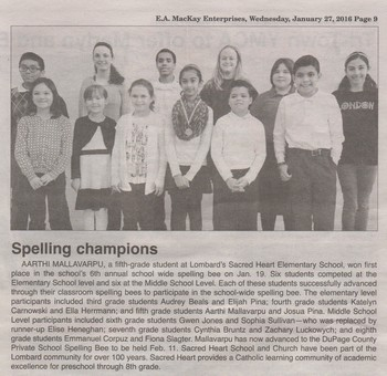Shining Lights - Spelling Bee Participants