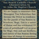 Update of the Parish of San Ramon