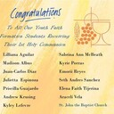 Congrats to our 1st Communion Students