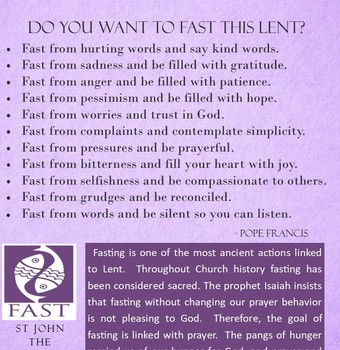 Fast For Lent