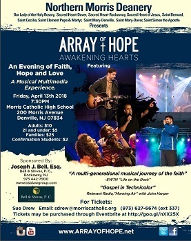 Array of Hope: Friday April 13th, 2018 at 7:30 pm