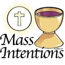 2018 Mass and Candle Intentions