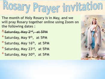 Rosary Prayer (via Zoom)