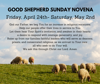 Novena leading up to Good Shepherd Sunday