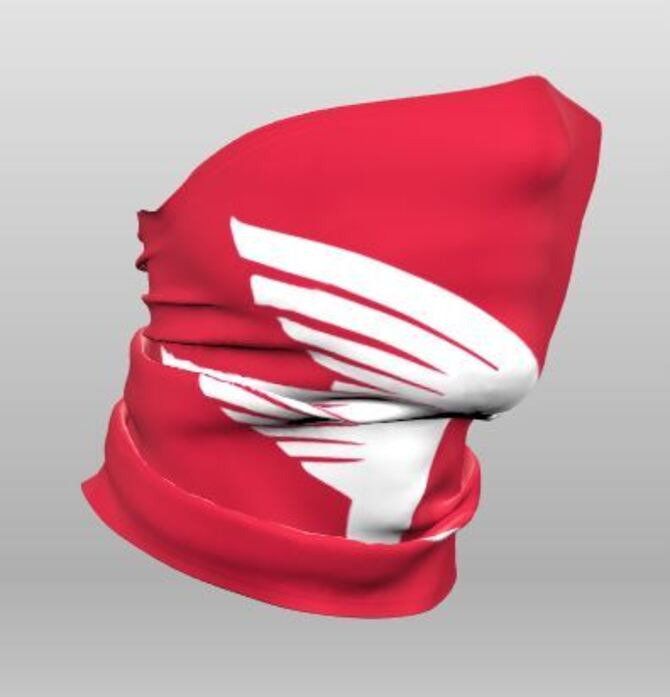 Red St. Michael Gaiter with white logo. Great to wear in the dugout or on the field! Qantity limited so order today. $14.