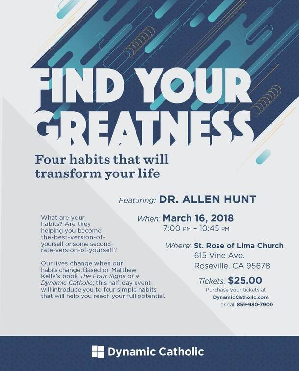 Find Your Greatness - Dynamic Catholic - March 16, 2018