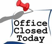 Parish Center Office is closed!