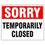 Thrift Shop Temporary Closing