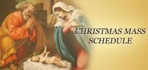 Advent and Christmas Mass Times