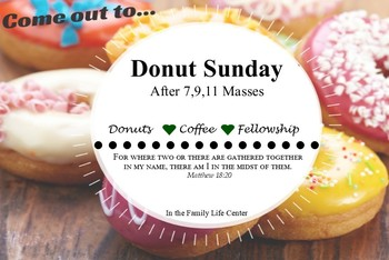 Coffee and Donuts - Canceled for March 15th