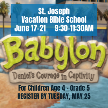 Vacation Bible School for children age 4 - grade 5