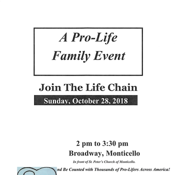 Life Chain-A Pro Life Family Event, Monticello