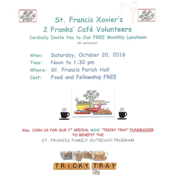 St. Francis Xavier Tricky Tray/Free Luncheon