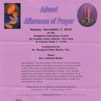 Advent Afternoon of Prayer