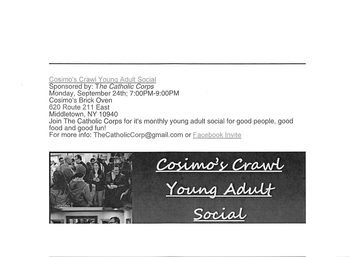 Cosimo's Crawl Young Adult Social