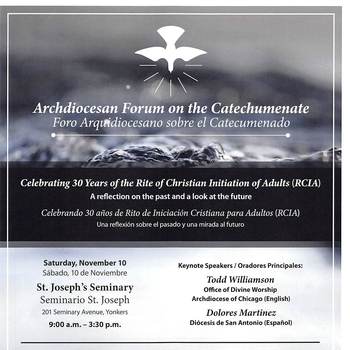 Archdiocesan Forum on the Catechumenate (RCIA Forum)