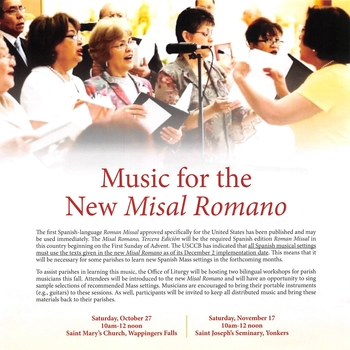 Learn Music for the New Misal Romano-Spanish Language workshop
