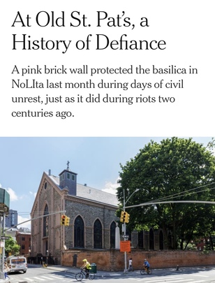 OLD ST. PAT'S IN THE NEW YORK TIMES