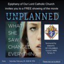 Free Showing of the movie UNPLANNED