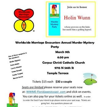 Murder Mystery Party Hosted by Worldwide Marriage Encounter