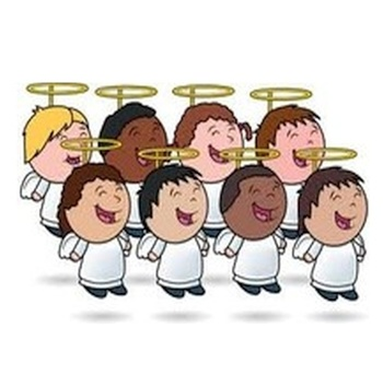 Choir Practice Children. God's Angels. Sunday.