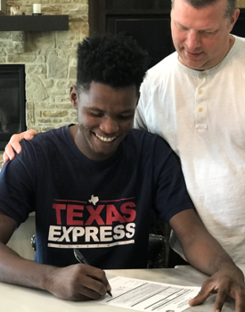 TEXAS EXPRESS PLAYER AUSTIN NGALIA SIGNS SCHOLARSHIP WITH DAWSON COLLEGE IN MONTANA