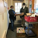 Edison SAI Center delivers supplies to the Ozanam Family Shelter