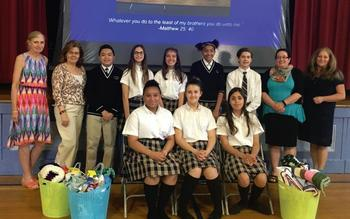 STUDENT COUNCIL PARTNERS WITH CATHOLIC CHARITIES