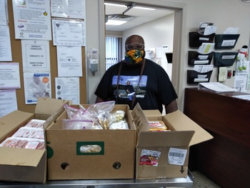 Food Delivery to Ozanam Family Shelter