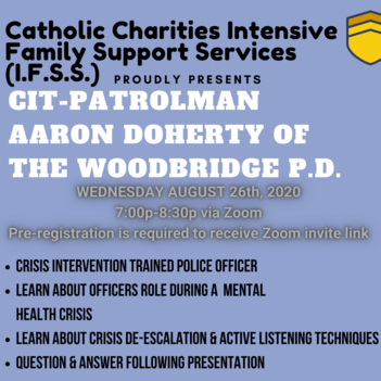 CIT- Partolman Aaron Doherty of the Woodbridge P.D