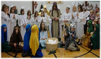 Children's Live Nativity Reenactment