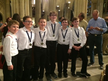 Choir Children Sing at St. Patrick Cathedral in NYC
