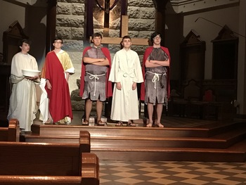SPYM leads Stations of the Cross on Good Friday
