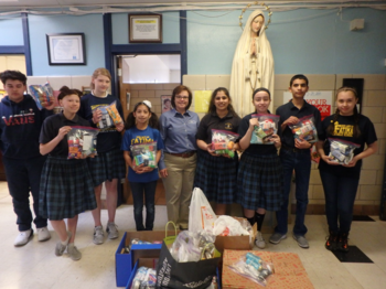 Fatima Students Reach Out to Help Homeless Veterans
