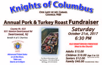 Knights of Columbus Pork and Turkey Roast