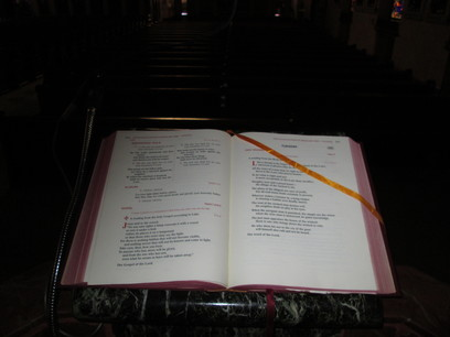 Lectionary...the book containing the readings for Mass