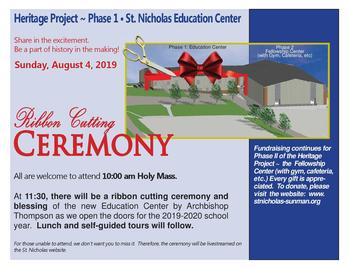 Blessing & Dedication of the Education Center