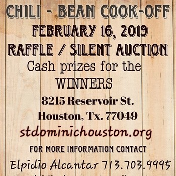 2019 Chili- Bean Cook off