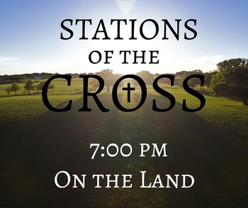 Good Friday Stations of the Cross on the Land