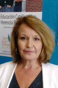 Dear San Juan Diego Academy Families & Friends,   We are pleased to announce the appointment of Kristina Martinez-Precious as San Juan Diego Academy Principal and Jessica Vergara as Administrative Assistant for the upcoming 2019-2020 school year.   With over 27 years in public education, Mrs. Martinez-Precious was born in Mexico and grew up in Argentina. She earned her B.A. in German, French, and Spanish from Hope College and her M.A. in Education with Bilingual Endorsement from Aquinas College. She has been a teacher, administrator, and principal in several school districts including Grand Rapids and Muskegon. For the past 22 years, she has served as an assistant professor of education at Aquinas College in Bilingual Education and English as a Second Language.   Martinez-Precious has started and managed several Spanish/English Two-Way Immersion schools and programs. Most notable among these was the Southwest Community Campus in the Grand Rapids Public Schools with an enrollment of about 800 students. As principal, she was recognized for her accomplishments there with two visits from Governor Jennifer Granholm.