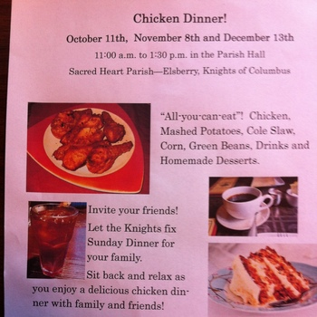 Knights of Columbus Chicken Dinners