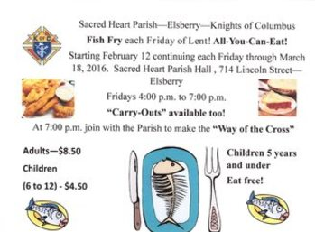 Fish Frys - Knights of Columbus - Sacred Heart Parish Hall