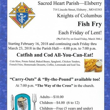 Fish Fry - Knights of Columbus