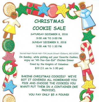 Christmas Cookie Sale - St. Anne's Sodality