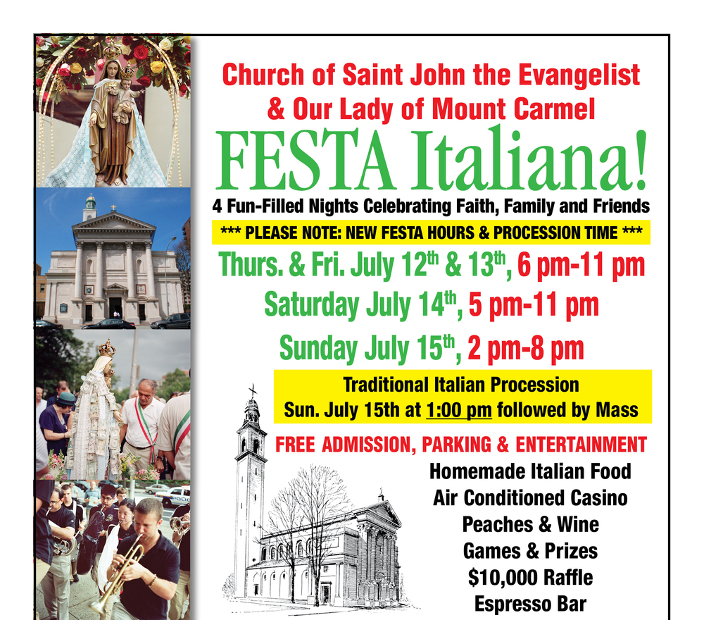Festa Italiana | St  John the Evangelist and Our Lady of