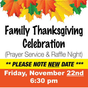 Family ThanksgIving Celebration & Raffle Night