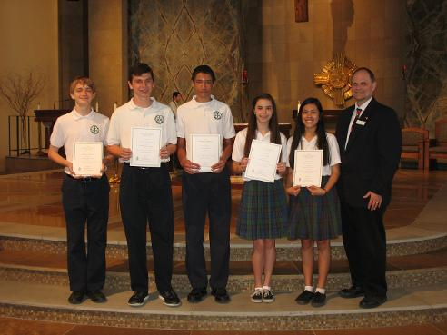 St. Ignatius Students Honored At Service and Leadership Mass