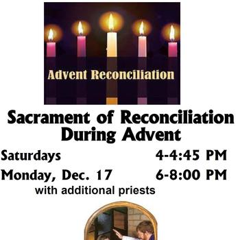 Sacrament of Reconciliation During Advent