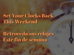 Time Change This Weekend