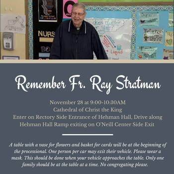 Father Stratman Services Will Be Saturday at Christ the King